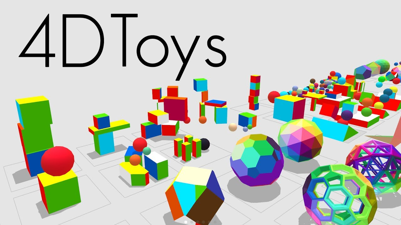 Miegakure | 4D Toys: a box of four-dimensional toys, and how objects bounce and roll in 4D